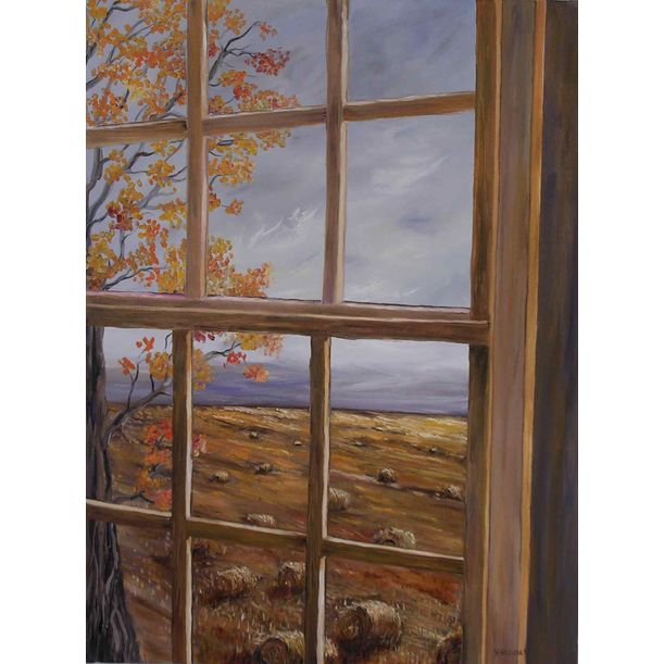 Through the window Autumn by Yaffa Wainer
