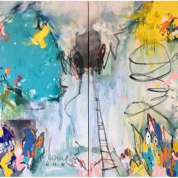home (XXL diptychon) by Bea Garding Schubert