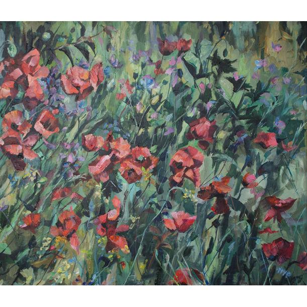 Poppy Field by Marina Urchukina