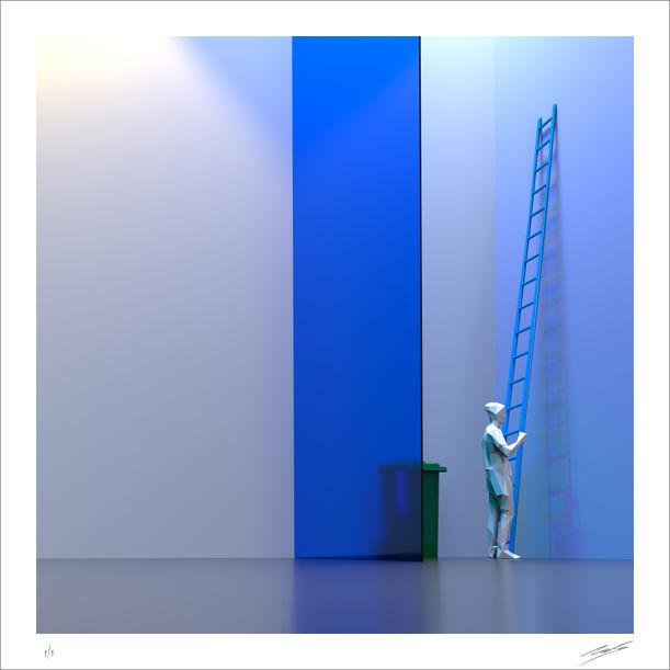 Blue Basement by Nacho Frades