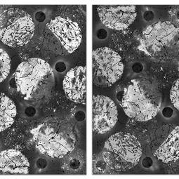Diptych Atomic analogy by Sumit Mehndiratta