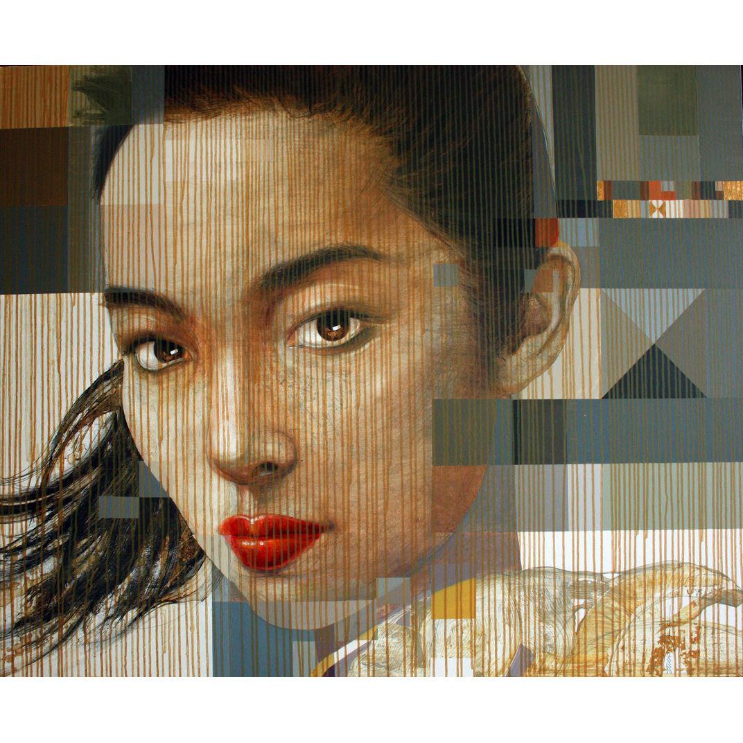 Behind Bamboo Blinds No.3 by Jirasak Plabootong
