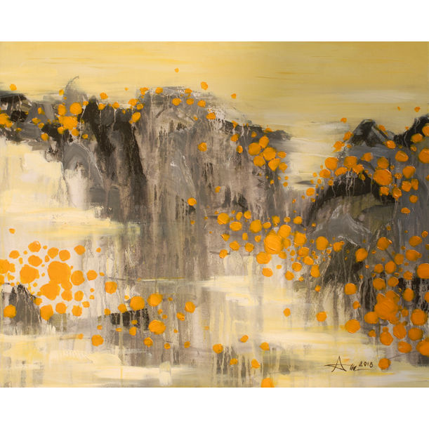 Yellow flower on mountain by Anh Xuan Nguyen