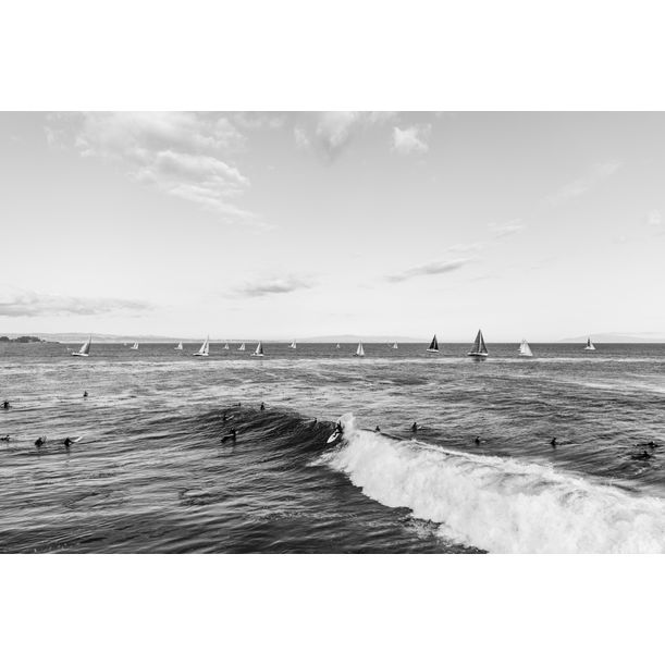 Surfers + Ships by Lukas Griffin