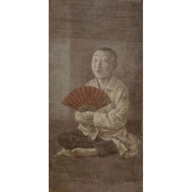 Red Fan by Wang Gang