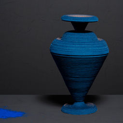 Blue Alchemy - Vase nr.1 by Siba Sahabi