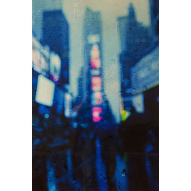 The Rain, New York, Times Square by Tomoya