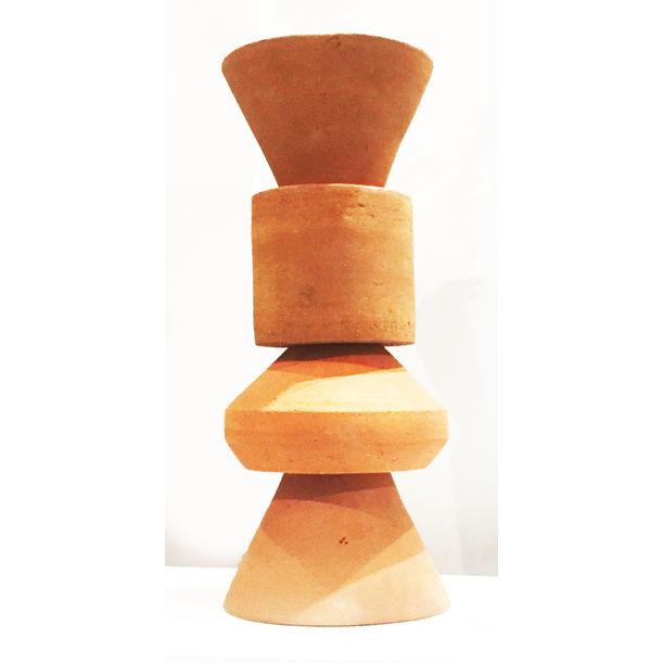 ETHNO BAUHAUS TOTEM VASE by ERIC C. SANCHEZ for Red Slab Pottery