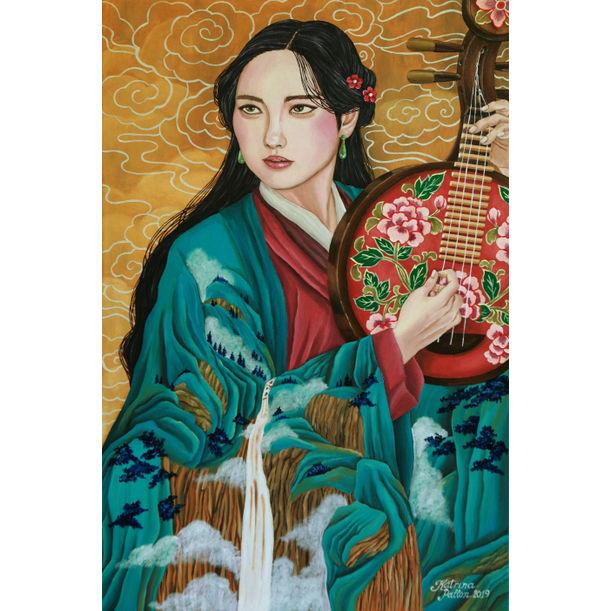 Her Vermilion Yueqin by Katrina Pallon