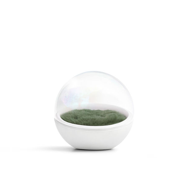Bubble Capsule (w/ Forest Green Fur ) by Yellowdot Design