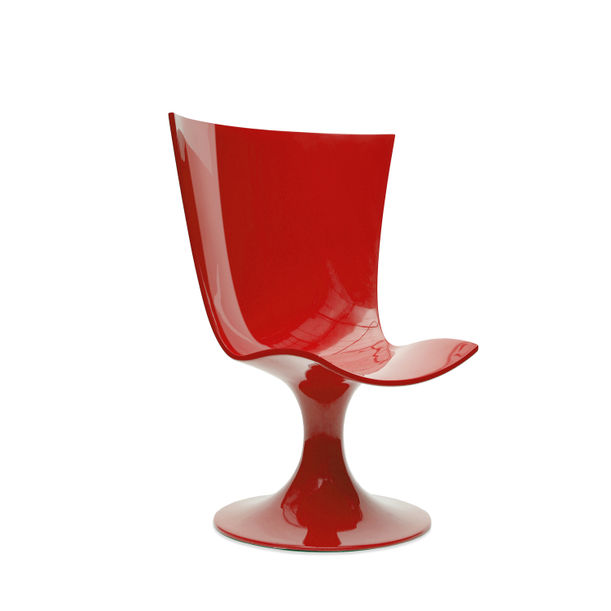 Santos Chair: Imposing Red Seat by Joel Escalona