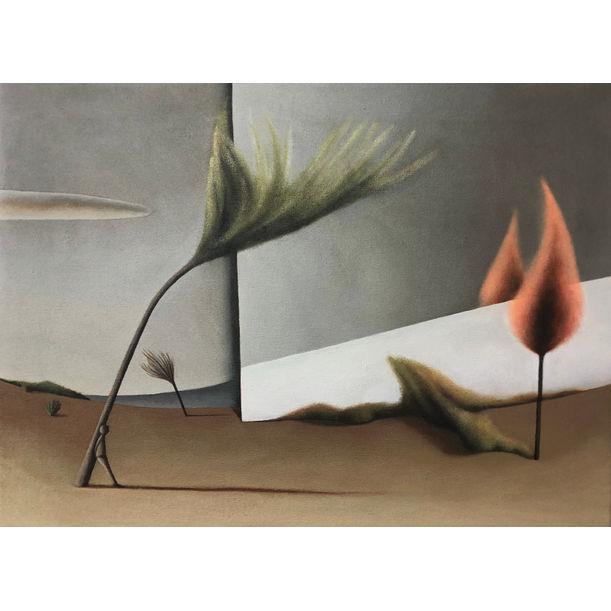 Between planes and landscapes XX by María Álvarez