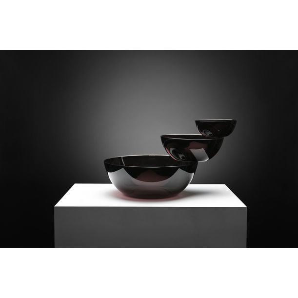 Large Balancing Glass Sculptural Bowl by Joel Escalona