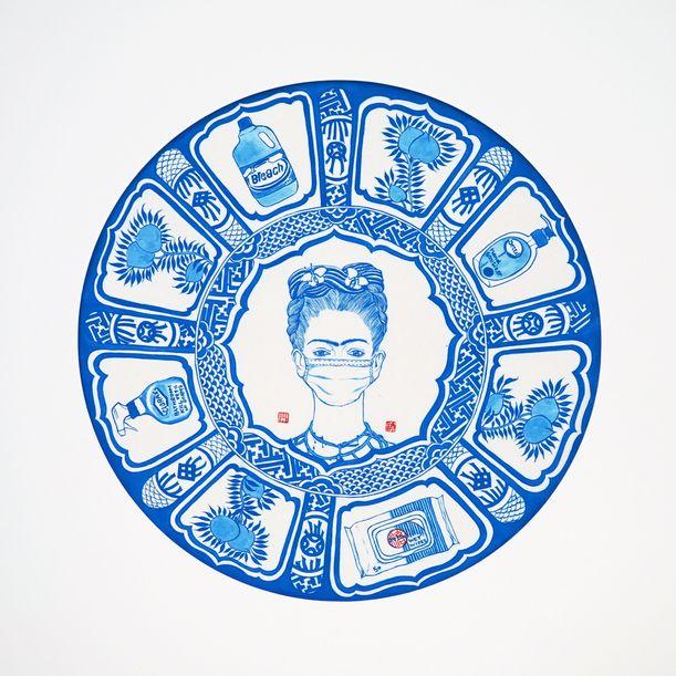 My Little Hong Kong-Pandemic 2020 Series-Frieda Kahlo by Hui Hoi-kiu, Angel