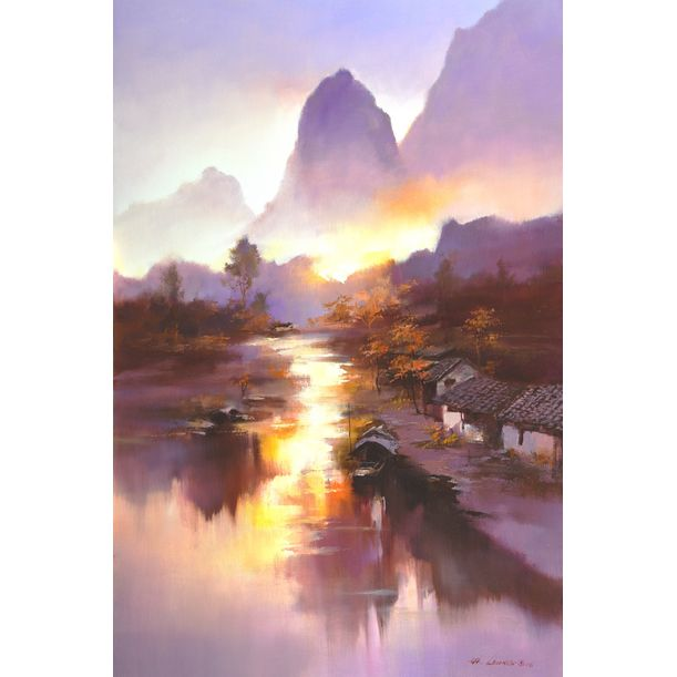 River Morning by Hong Leung