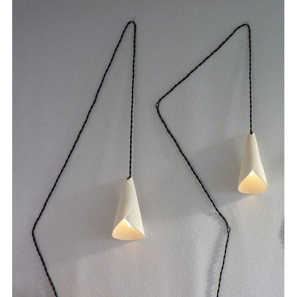 Applique Graphique Arum (Arum graphic wall lamp) by françoise bergaglia
