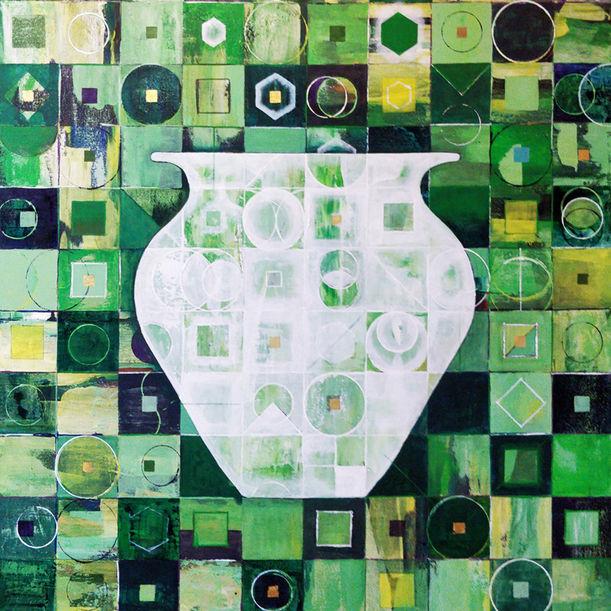 Vessel - Green by Jyoti Naoki Eri