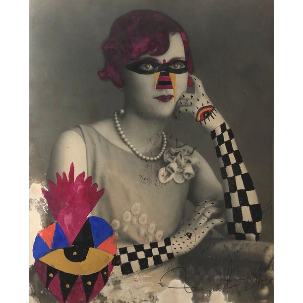 Checker Arm Lady by Leobardo Huerta