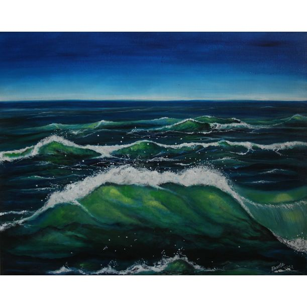 Emerald Waves by Shveta Saxena
