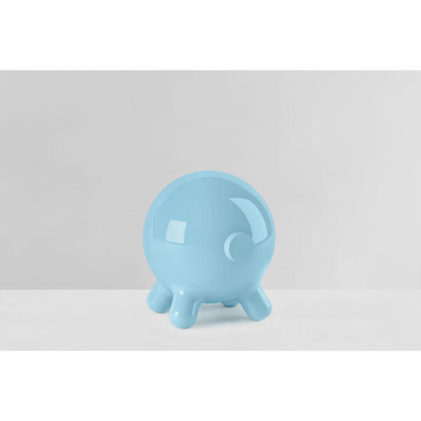 Pogo: Blue Decorative Stool and Playful Sculpture by Joel Escalona