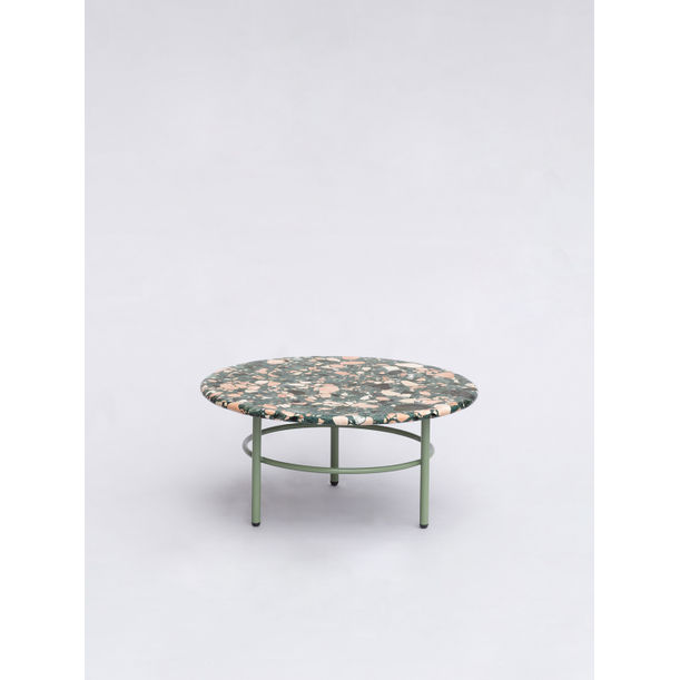 Small green Terrazo coffee table by Comite de Proyectos
