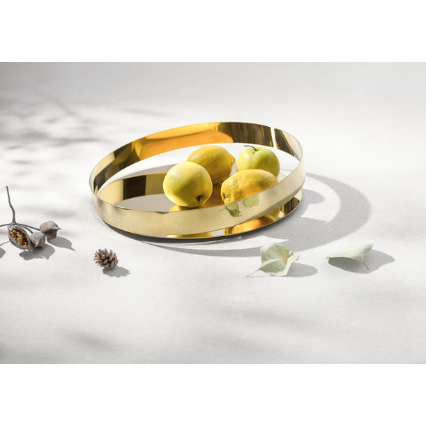 Orbis tray -Gold-30cm (L) by Beyond Object