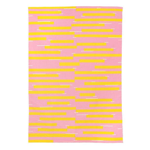 Jamakhan Stripe Rug - Pink by Tiipoi