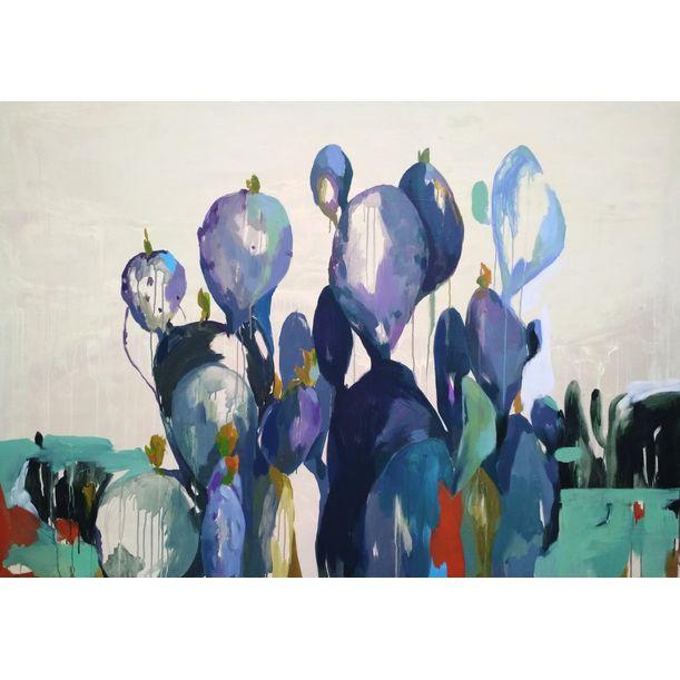 Violet cactus by Dmytriv Viktoriia