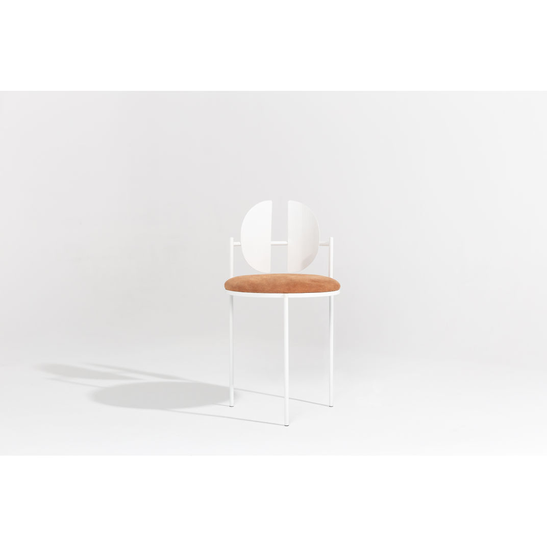 White Qoticher Dining Chair by Angel Mombiedro