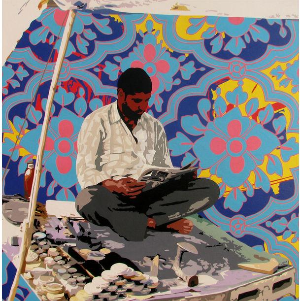 Cobbler Reading Newspaper by Sohan Jakhar