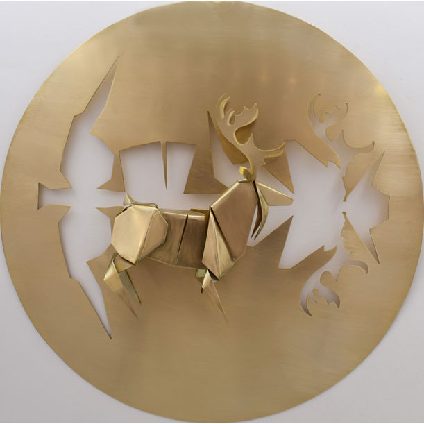 Folding From A Piece - Deer by Victor Wong