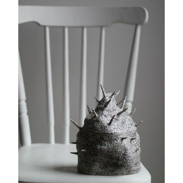 Porcelain Sculpture With Spikes #1 by Kira Ni