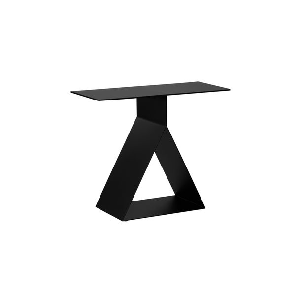 Picto Furniture-Straight End Table/Matt Black by nendo for ZENS