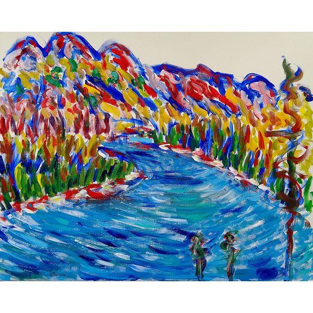 Athabasca River by Chiho Yoshikawa