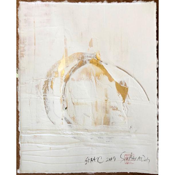Static 249  Original gold painting by Sia Aryai