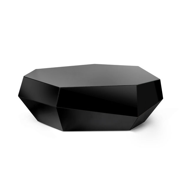 Three Rocks | black low table by Joana Santos Barbosa