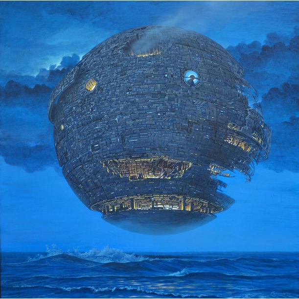 Planet of Silly People – Sea at Night by Kazuaki Maitani