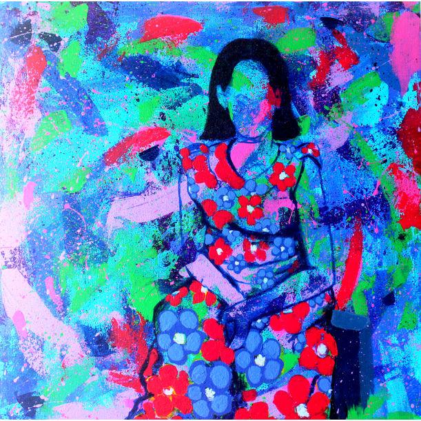 Girl In Garden by Ram Patil