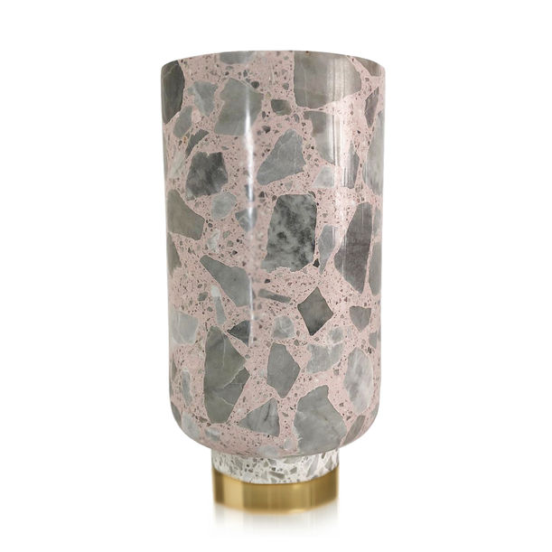 Pink and White Terrazzo Vase by KONSTANTIN