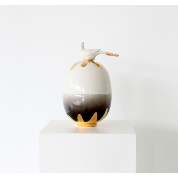 Egg Vessels Gold Bird / small by Mari JJ Design