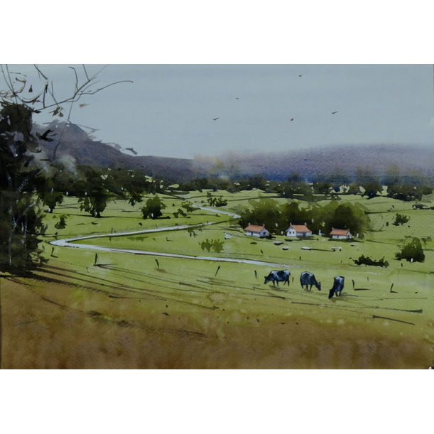 A quiet scene of countryside I by Swarup Dandapat