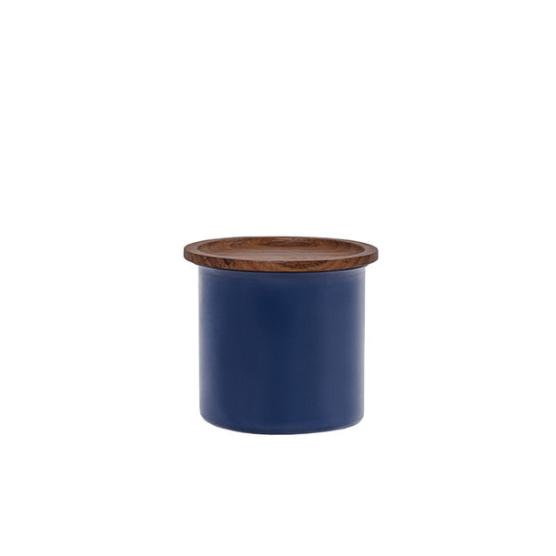 Ayasa Blue Storage Jar, with wooden lid - 0.5L by Tiipoi