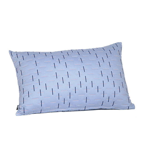 Modern Kantha Powder Blue cushion by Tiipoi
