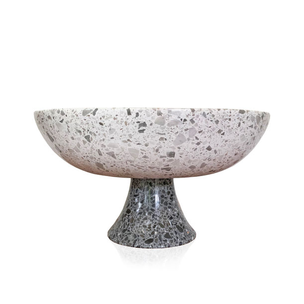 Black and White Terrazzo Bowl by KONSTANTIN