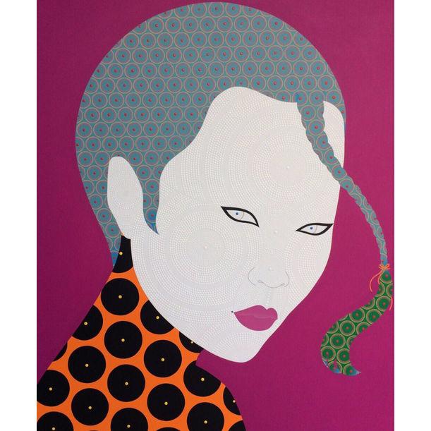 She on Fuchsia by Chamnan Chongpaiboon