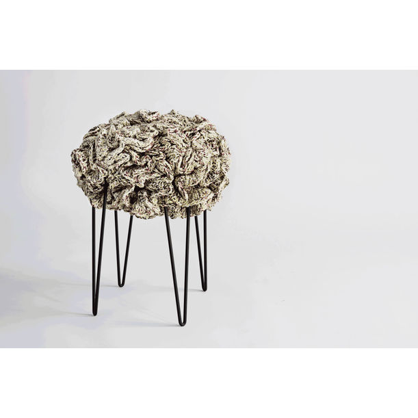 Handmade Crochet Pouf Stool by Iota