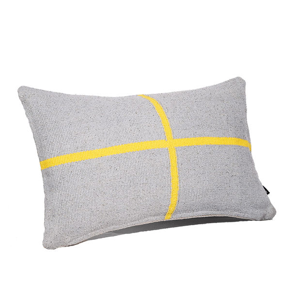 Jamakhan Cross Grey cushion by Tiipoi