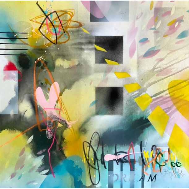 Dream Yellow II by Bea Garding Schubert