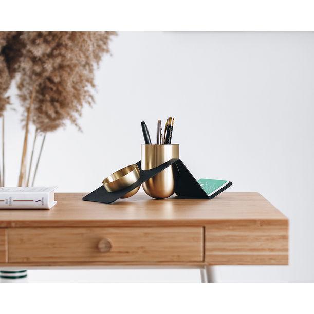 Blank Desk Organizer / Brass by Kitbox Design