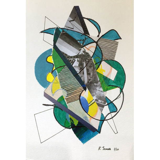 Collage Tangle # 16 by Randall James